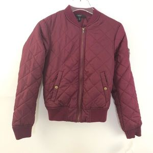 Weekend MaxMara Quilted Bomber Jacket Size Small